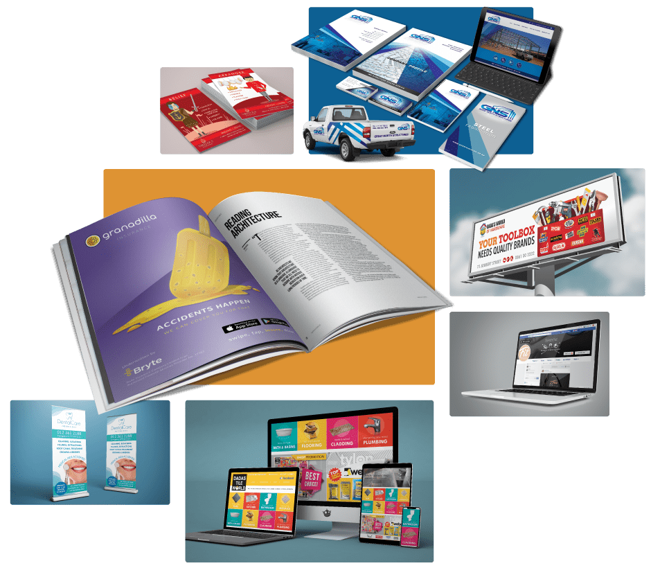 graphic design, advertising and branding projects